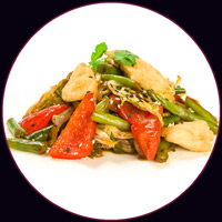 Курица с овощами под соусом терияки