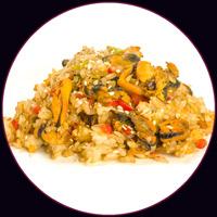 Рис по-японски с мидиями