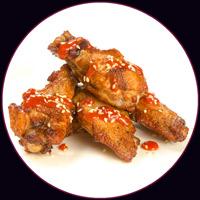 Куриные крылышки со сливочным соусом
