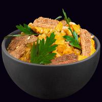 Рис по-японски с копчёной говядиной