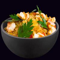 Рис по-японски с креветками