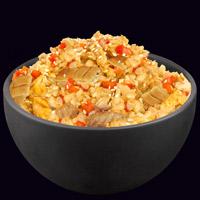 Рис по-японски с лососем