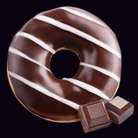 Донат в шоколадной глазури