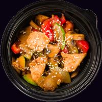 Жареные овощи с курицей