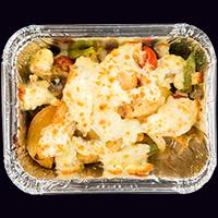Картофель запеченный с сыром и курицей