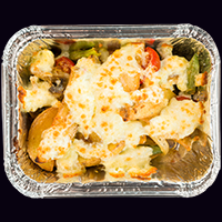 Картофель запеченный с сыром и морепродуктами